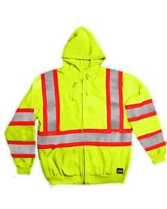 ANSI II Class 3 High-Vis Hooded Sweatshirt